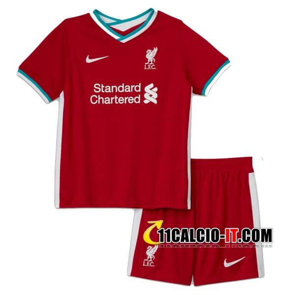 Nuove Maglia Calcio FC Liverpool Bambino Prima 2020/21 | Tailandia