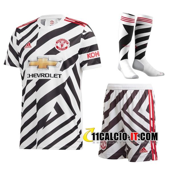kit Siti Per Maglia Calcio Manchester United Terza (Pantaloncini ...