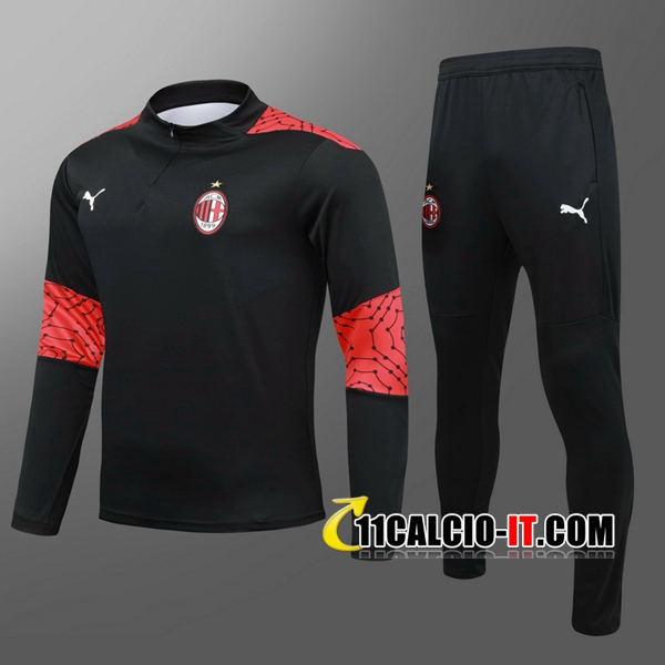 Nuove Nuovi Tuta Calcio Milan AC Bambino Nero 2020/21   Tailandia