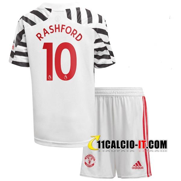 Crea Maglia Calcio Manchester United (Rashford 10) Bambino Terza ...
