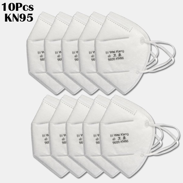10 Pieces / Pack 0f KN95 Masks PM2.5 Filter Respiratory Protective Mask KN95=N95=KF94=FFP3